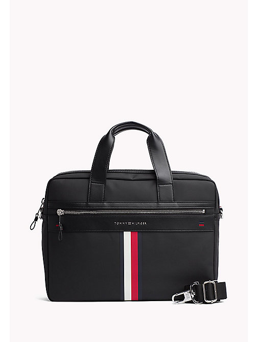 TOMMY HILFIGER Laptop-Tasche im Business-Casual-Look - BLACK - TOMMY HILFIGER Test 4 - main image