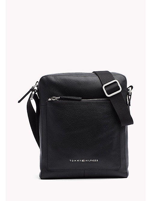 TOMMY HILFIGER Leather Reporter Bag - BLACK - TOMMY HILFIGER Bags & Accessories - main image