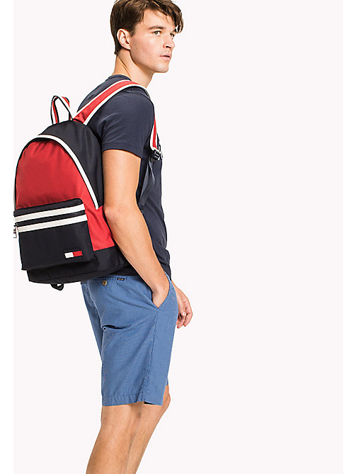 TOMMY HILFIGER Bold Colour-Blocked Backpack - CORPORATE - TOMMY HILFIGER Bags & Accessories - detail image 1