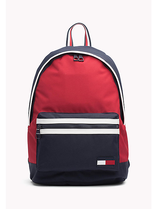 TOMMY HILFIGER Stoere colour-blocked rugtas - CORPORATE - TOMMY HILFIGER Tassen & Accessoires - main image