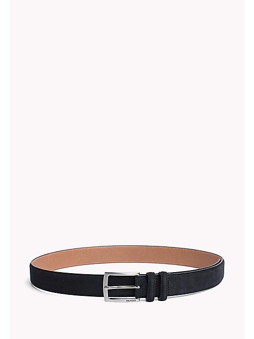 TOMMY HILFIGER Tailored Suede Belt - TOMMY NAVY - TOMMY HILFIGER Belts - main image
