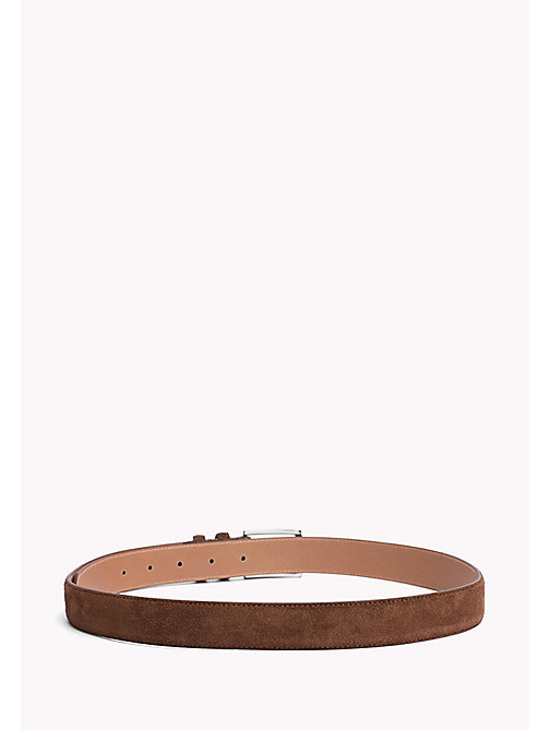TOMMY HILFIGER Tailored Suede Belt - COGNAC - TOMMY HILFIGER What to Wear - detail image 1