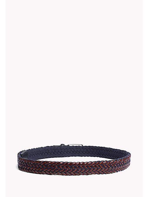 TOMMY HILFIGER TLD BRAIDED BELT 3.5 - TOMMY NAVY-COGNAC - TOMMY HILFIGER Belts - detail image 1