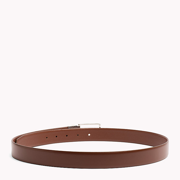 TOMMY HILFIGER Reversible Leather Belt - BLACK-BLACK - TOMMY HILFIGER Men - detail image 1