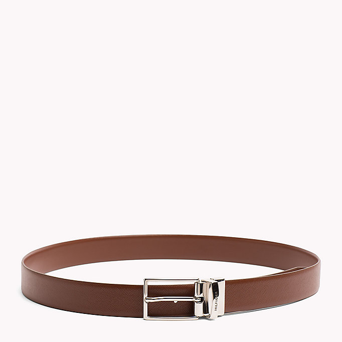 TOMMY HILFIGER Reversible Leather Belt - BLACK-BLACK - TOMMY HILFIGER Men - detail image 2