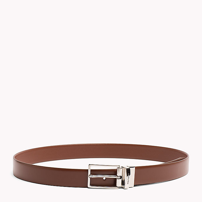 TOMMY HILFIGER Reversible Leather Belt - BLACK-BLACK - TOMMY HILFIGER Men - main image