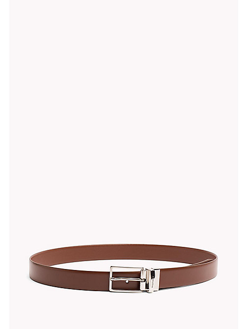 TOMMY HILFIGER Reversible Leather Belt - BROWN-BROWN - TOMMY HILFIGER NEW IN - main image