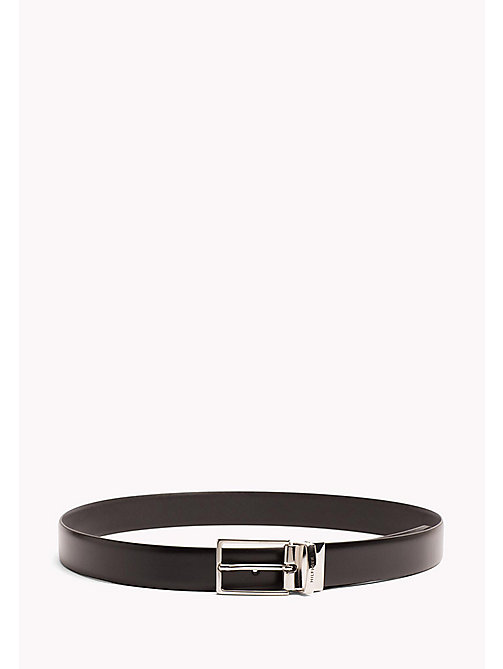 TOMMY HILFIGER Reversible Leather Belt - BLACK-BLACK - TOMMY HILFIGER NEW IN - main image