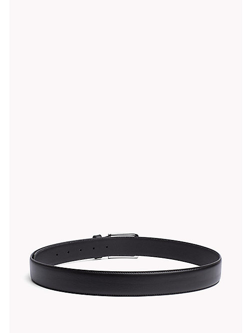 TOMMY HILFIGER Leather Embossed Buckle Belt - BLACK - TOMMY HILFIGER Belts - detail image 1