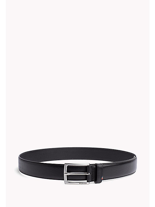 TOMMY HILFIGER Leather Embossed Buckle Belt - BLACK - TOMMY HILFIGER Belts - main image