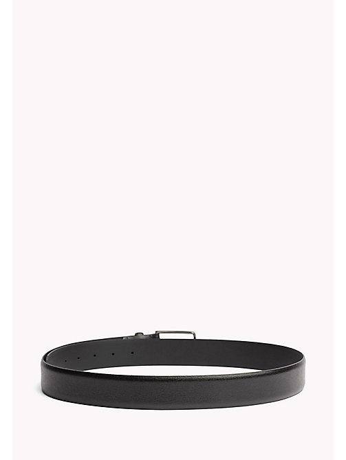 TOMMY HILFIGER Metal Buckle Leather Belt - BLACK - TOMMY HILFIGER NEW IN - detail image 1