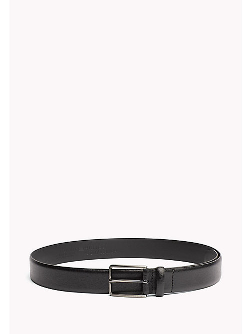 TOMMY HILFIGER Metal Buckle Leather Belt - BLACK - TOMMY HILFIGER NEW IN - main image