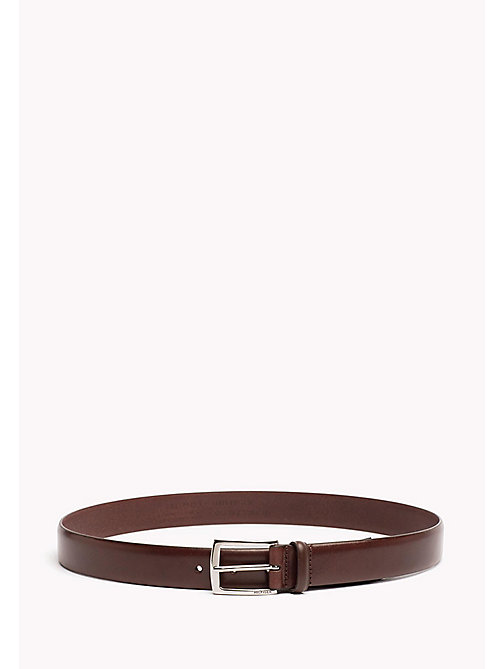 TOMMY HILFIGER Tailored Leather Belt - BROWN - TOMMY HILFIGER NEW IN - main image