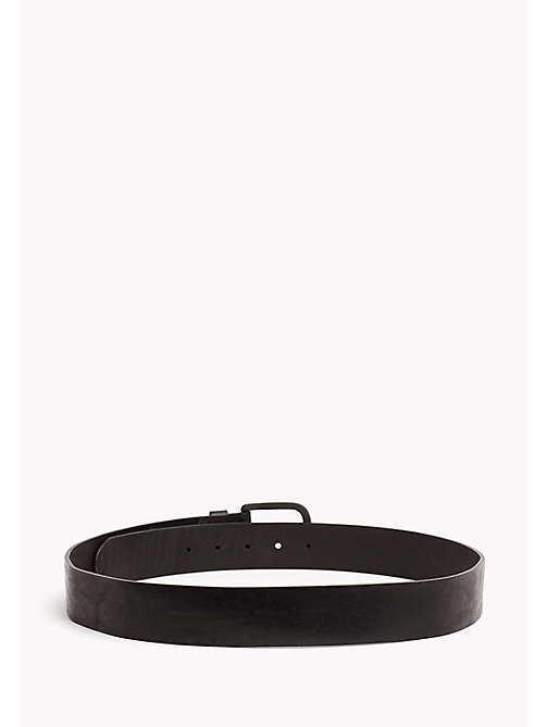TOMMY JEANS Leather Belt with Matte Buckle - BLACK - TOMMY JEANS Tommy Jeans Accessories - detail image 1