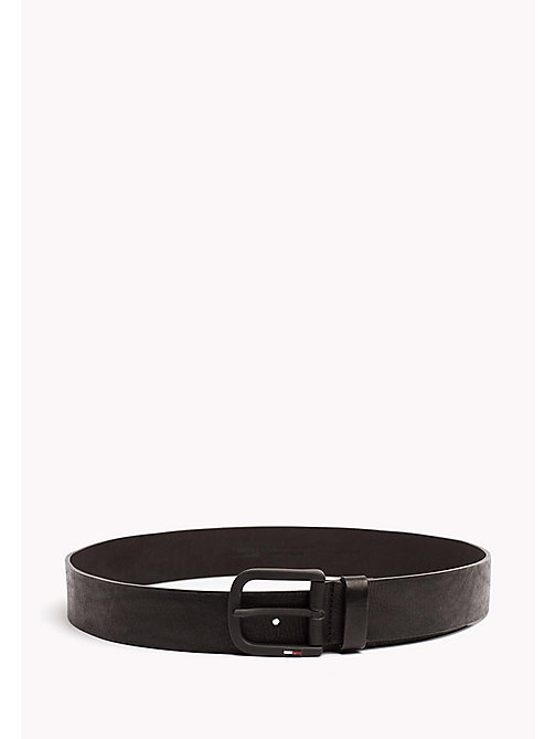 TOMMY JEANS Leather Belt with Matte Buckle - BLACK - TOMMY JEANS Bags & Accessories - main image