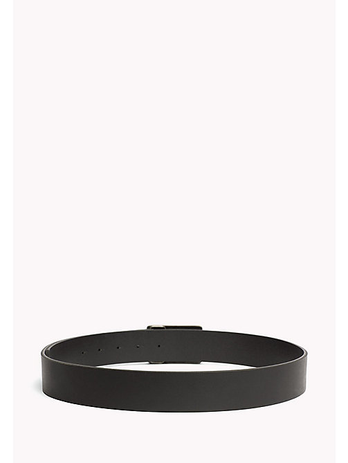 TOMMY JEANS Metal Buckle Leather Belt - BLACK - TOMMY JEANS Bags & Accessories - detail image 1