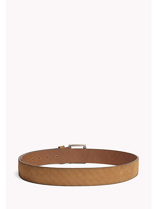 TOMMY JEANS Leather Patterned Belt - TAN -  MEN - detail image 1