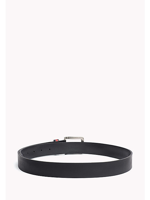 TOMMY JEANS Flag Loop Leather Belt - BLACK - TOMMY JEANS MEN - detail image 1
