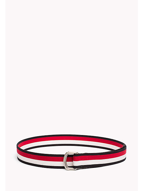 TOMMY HILFIGER Engraved Logo Webbing Belt - CORPORATE - TOMMY HILFIGER Belts - main image