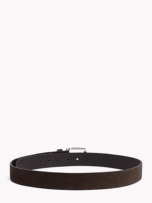 TOMMY HILFIGER Nubuck Leather Belt - COFFEE BEAN - TOMMY HILFIGER VACATION FOR HIM - detail image 1