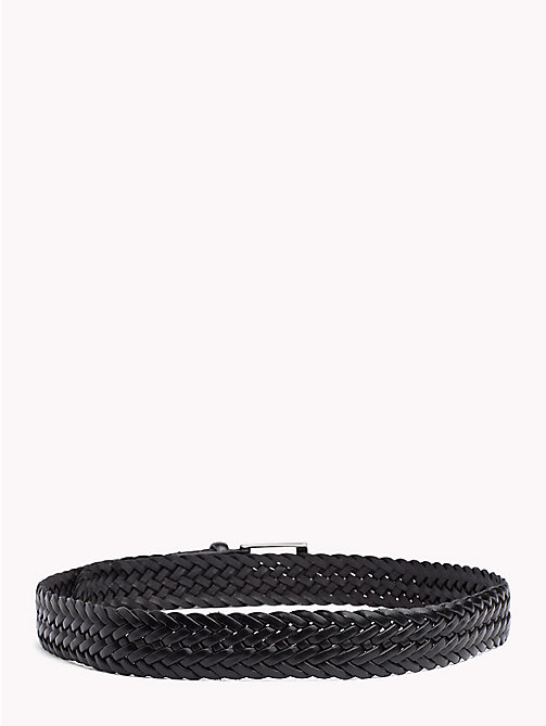 TOMMY HILFIGER Woven Leather Belt - BLACK - TOMMY HILFIGER VACATION FOR HIM - detail image 1