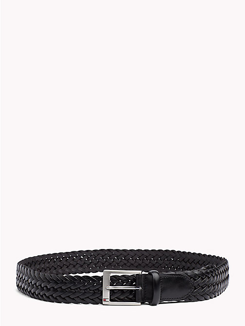 TOMMY HILFIGER Woven Leather Belt - BLACK - TOMMY HILFIGER VACATION FOR HIM - main image