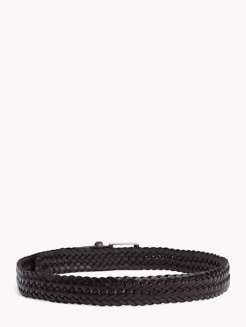 TOMMY HILFIGER Woven Leather Belt - TESTI DI MORO - TOMMY HILFIGER Belts - detail image 1