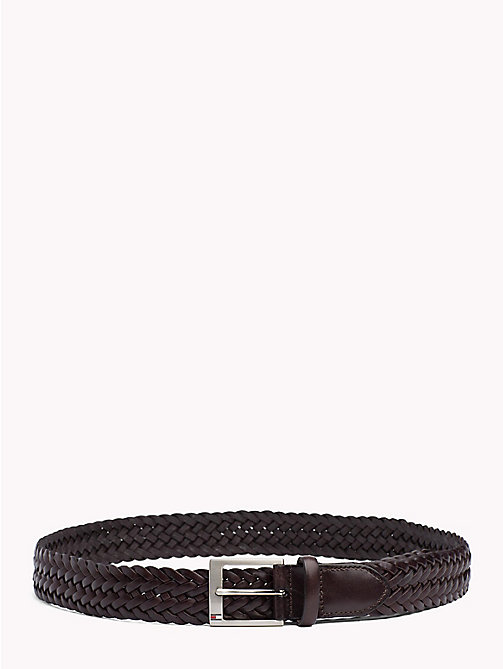 TOMMY HILFIGER Woven Leather Belt - TESTI DI MORO - TOMMY HILFIGER Belts - main image