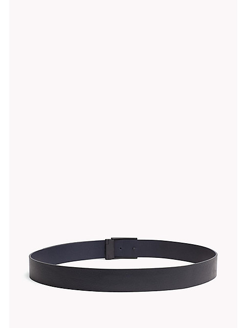 TOMMY HILFIGER Plaque Leather Belt - TOMMY NAVY - TOMMY HILFIGER NEW IN - detail image 1