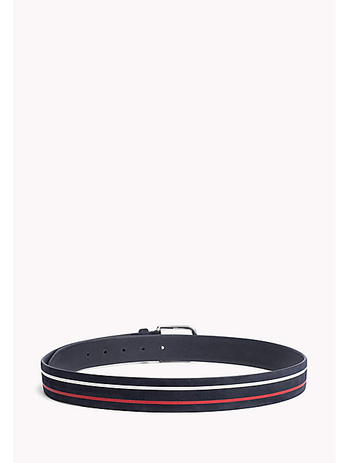 TOMMY HILFIGER Stripe Nubuck Leather Belt - CORPORATE - TOMMY HILFIGER Belts - detail image 1