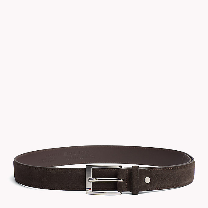 TOMMY HILFIGER Leather Belt - MIDNIGHT - TOMMY HILFIGER Men - main image