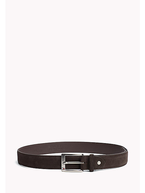 TOMMY HILFIGER Leather Belt - TESTI DI MORO - TOMMY HILFIGER Belts - main image
