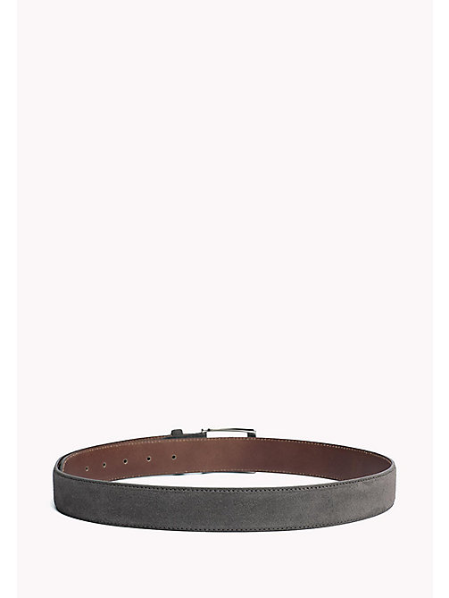 TOMMY HILFIGER Leather Belt - CHARCOAL - TOMMY HILFIGER Belts - detail image 1