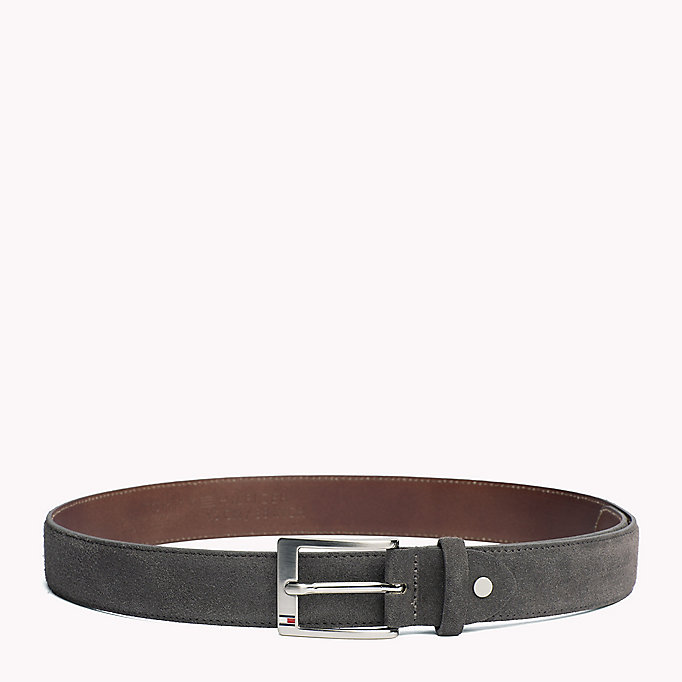 TOMMY HILFIGER Leather Belt - TESTI DI MORO - TOMMY HILFIGER Men - main image