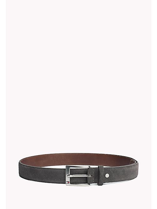TOMMY HILFIGER Leather Belt - CHARCOAL - TOMMY HILFIGER Belts - main image