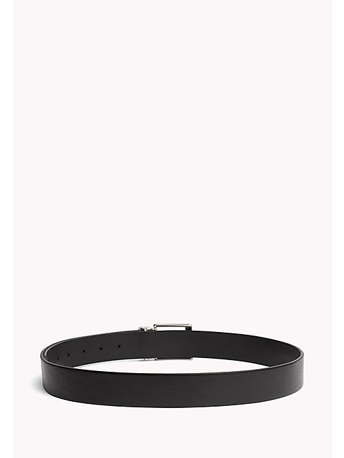 TOMMY HILFIGER Textured Leather Belt - BLACK - TOMMY HILFIGER Bags & Accessories - detail image 1