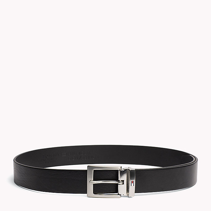 TOMMY HILFIGER Textured Leather Belt - TESTI DI MORO - TOMMY HILFIGER Men - main image