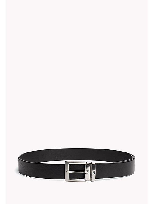 TOMMY HILFIGER Textured Leather Belt - BLACK - TOMMY HILFIGER Bags & Accessories - main image