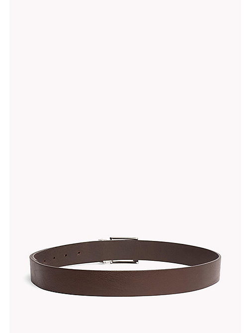 TOMMY HILFIGER Textured Leather Belt - TESTI DI MORO - TOMMY HILFIGER VACATION FOR HIM - detail image 1