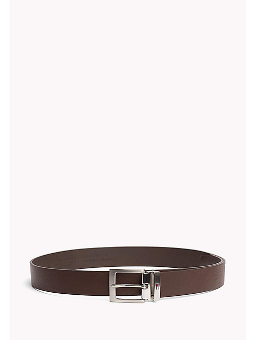 TOMMY HILFIGER Textured Leather Belt - TESTI DI MORO - TOMMY HILFIGER VACATION FOR HIM - main image