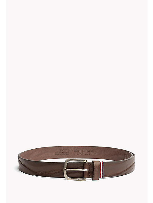 TOMMY HILFIGER Rustic Leather Belt - TESTI DI MORO - TOMMY HILFIGER Bags & Accessories - main image