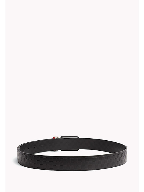 TOMMY HILFIGER Contrast Colour Leather Belt - CHECKERS-RED - TOMMY HILFIGER NEW IN - detail image 1