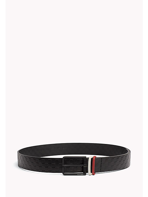 TOMMY HILFIGER Contrast Colour Leather Belt - CHECKERS-RED - TOMMY HILFIGER NEW IN - main image