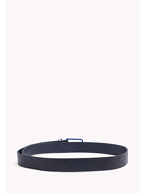 TOMMY HILFIGER Contrast Colour Leather Belt - TOMMY NAVY-BRIGHT BLUE - TOMMY HILFIGER NEW IN - detail image 1
