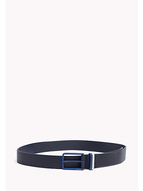 TOMMY HILFIGER Contrast Colour Leather Belt - TOMMY NAVY-BRIGHT BLUE - TOMMY HILFIGER NEW IN - main image