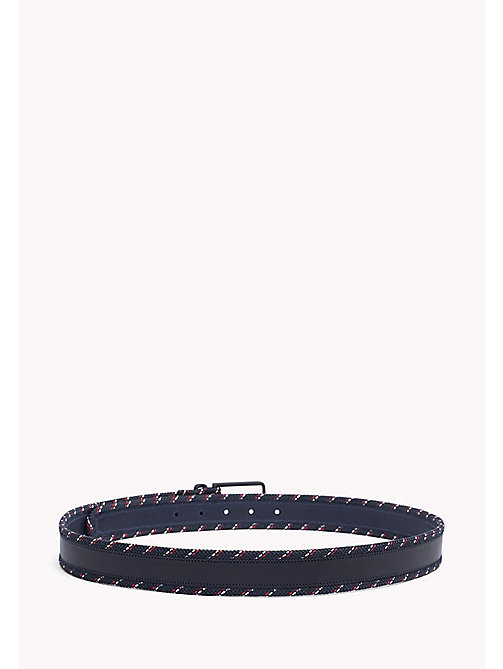 TOMMY HILFIGER Woven Edge Belt - TOMMY NAVY - TOMMY HILFIGER VACATION FOR HIM - detail image 1