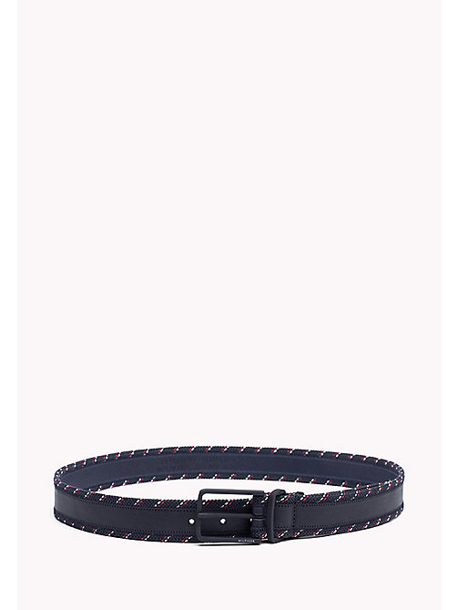 TOMMY HILFIGER Woven Edge Belt - TOMMY NAVY - TOMMY HILFIGER VACATION FOR HIM - main image