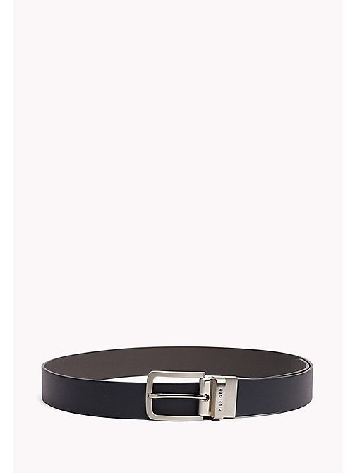 TOMMY HILFIGER Reversible Leather Belt - TOMMY NAVY-GREY - TOMMY HILFIGER Belts - main image