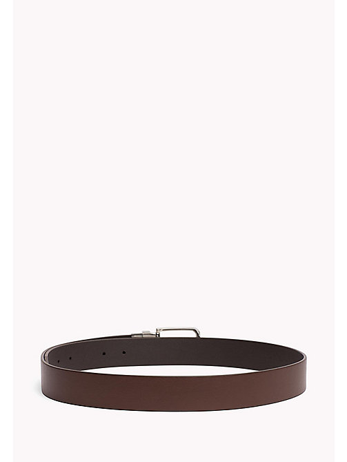 TOMMY HILFIGER Reversible Leather Belt - TESTI DI MORO-BROWN - TOMMY HILFIGER Belts - detail image 1