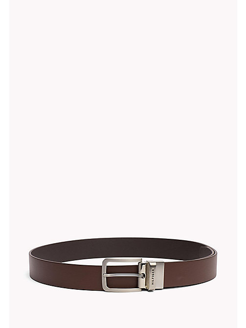 TOMMY HILFIGER Reversible Leather Belt - TESTI DI MORO-BROWN - TOMMY HILFIGER Belts - main image